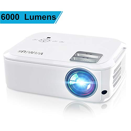 Projector, WiMiUS P21 6000 Lumens Video...
