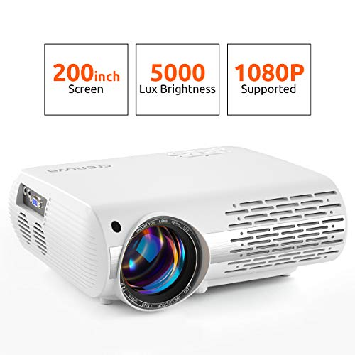 Crenova Video Projector, 5000 Lux Home...