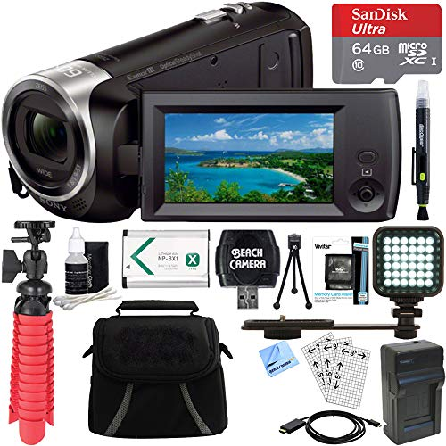 Sony HDR-CX405/B Full HD 60p Camcorder +...
