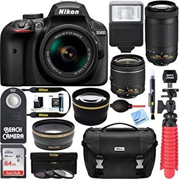 Nikon D3400 DSLR Camera + AF-P DX...