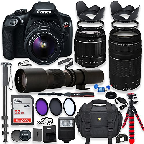 Canon EOS Rebel T6 DSLR Camera with...