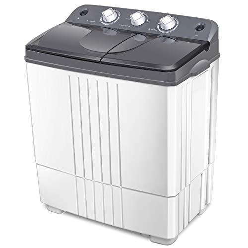COSTWAY Washing Machine, Twin Tub 20Lbs...
