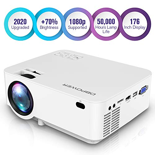 DBPOWER Upgraded Mini Projector, 176''...