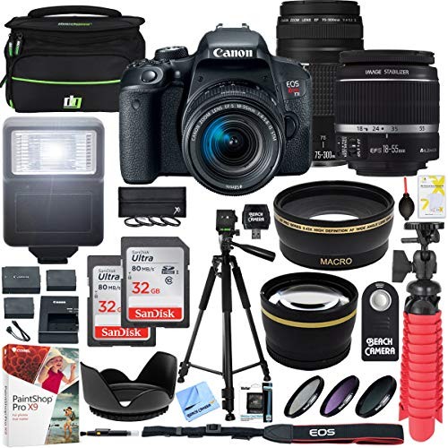Canon EOS Rebel T7i DSLR Camera with...