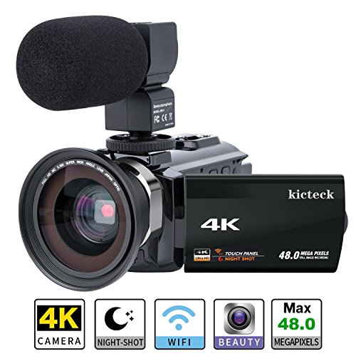 Video Camera Camcorder 4K kicteck Ultra...