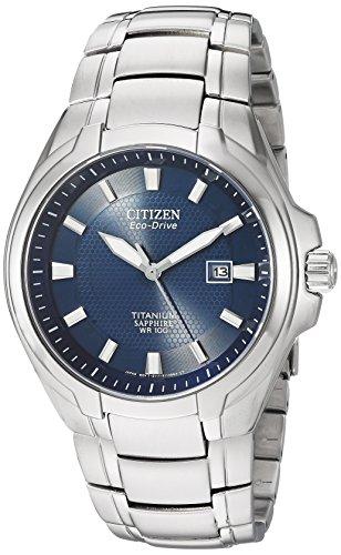 Citizen Men's Eco-Drive Titanium Watch...