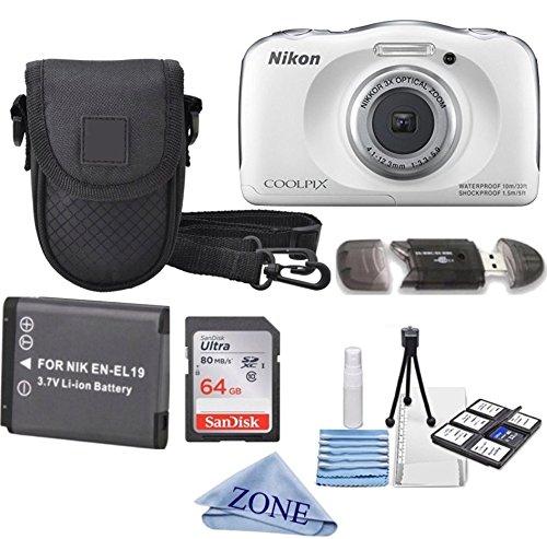Nikon COOLPIX S33 White Waterproof...
