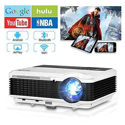 EUG Wireless Projector HD 1080P 4600...