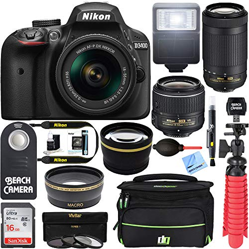 Nikon D3400 24.2MP DSLR Camera with...