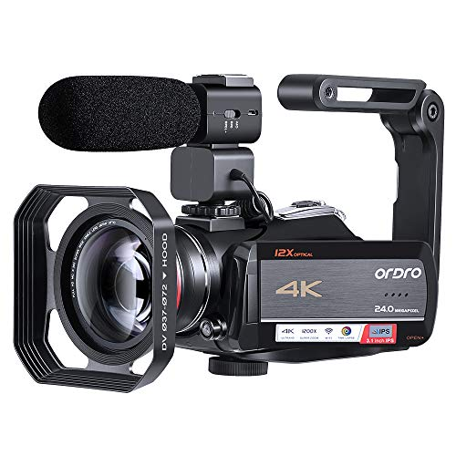 4K Video Camera Camcorder ORDRO HDR-AC5...