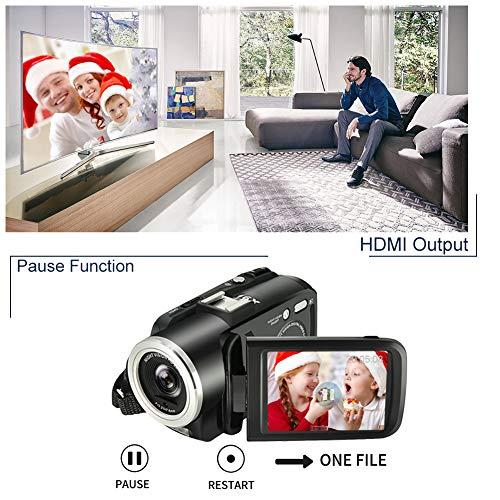 LINNSE Camcorder Digital Video Camera,...