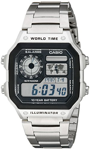 Casio Men's AE1200WHD-1A Stainless Steel...