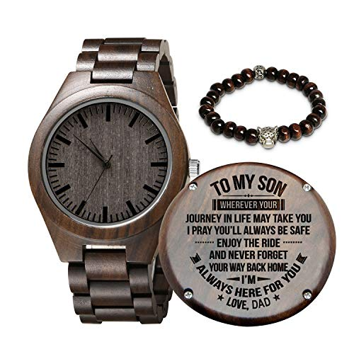 Engraved Wooden Watch for...