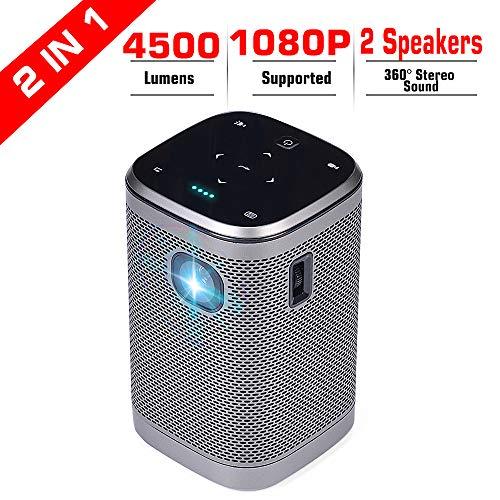 Projector 4500 Lumens DLP Support Full...