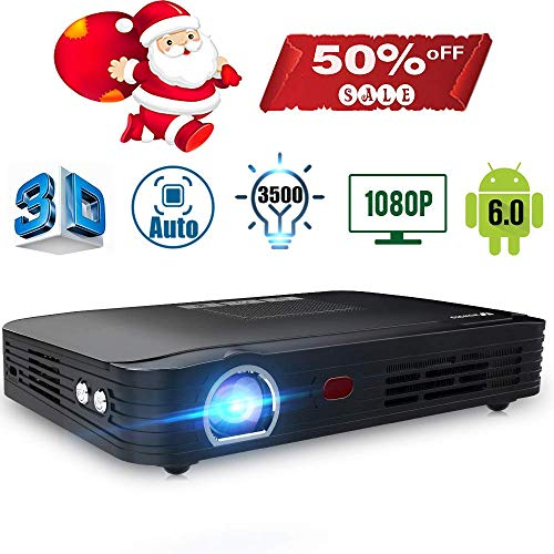 Projector 3500lumens Mini Portable DLP...