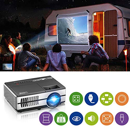 Portable LCD LED Projector Support HD...