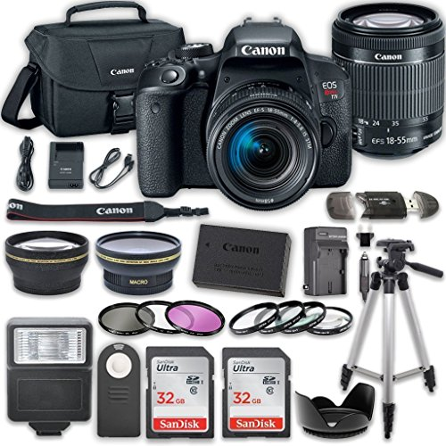 Canon EOS T7i DSLR Camera with 18-55mm...